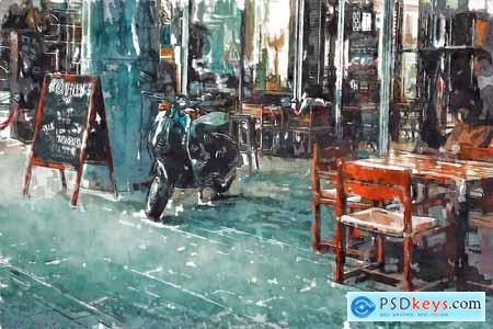 Watercolor Sketch Photo Effect 5790504