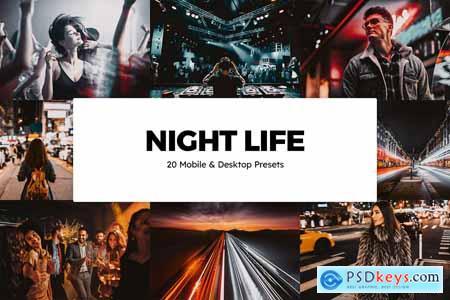 20 Night Life Lightroom Presets & LUTs 5859547