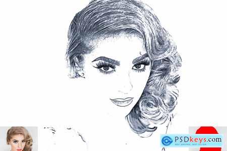 Clean Sketch Photoshop Action 5222566
