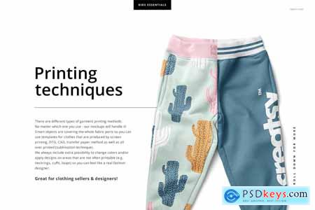 Kids Fleece Joggers Mockup Set 4320874