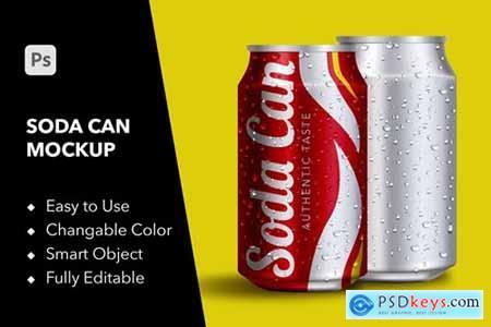 YDM Soda Can Mockup