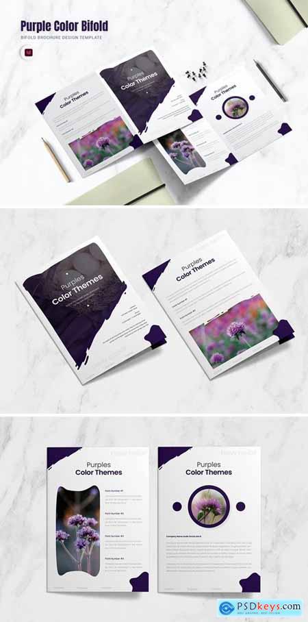 Purple Color Bifold Brochure