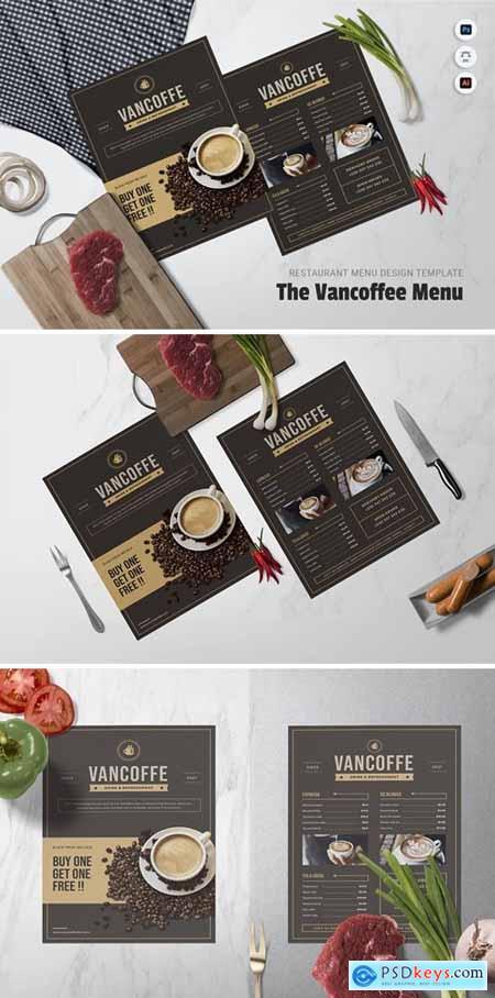 Vancoffee Restaurant Menu