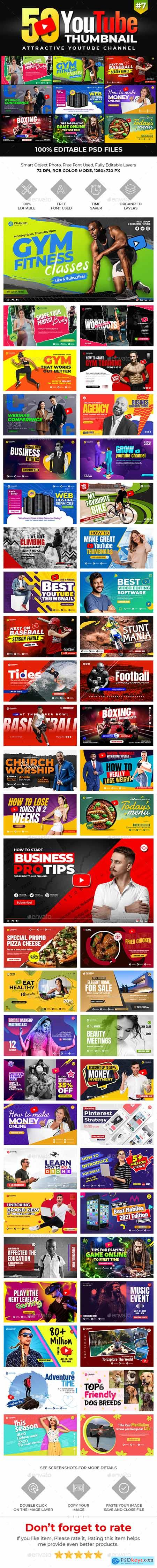 50-Youtube Thumbnail Templates 30186262