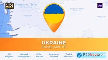 Ukraine Map - Ukrainian Travel Map 29974197