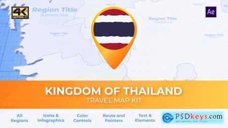 Thailand Map - Kingdom of Thailand Travel Map 29974213