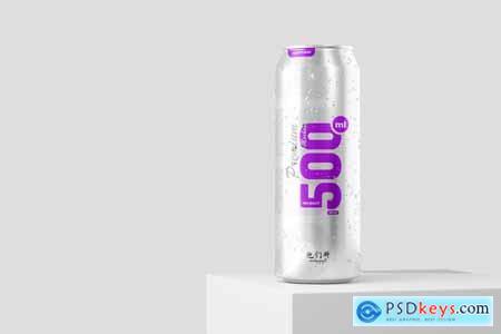 500ml Soda Can Mockup 5871311