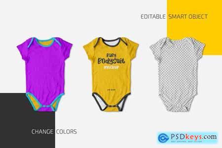 Baby Bodysuit Mockup Set 5869334