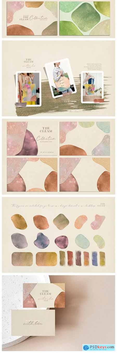 The Gleam Watercolor Shapes 8428665