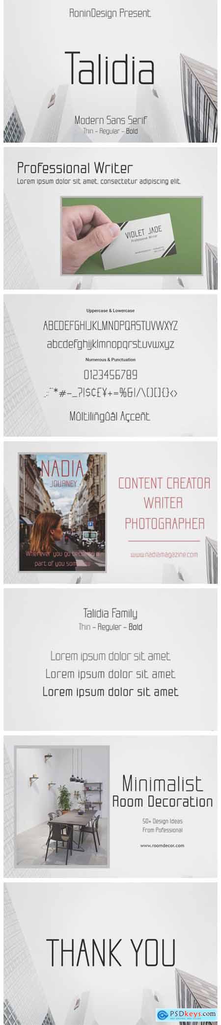 Talidia Font