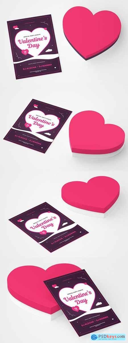 Valentines Day Greeting Card Mockup TNUNRW8