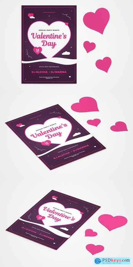 Valentines Day Greeting Card Mockup UX8YSR9