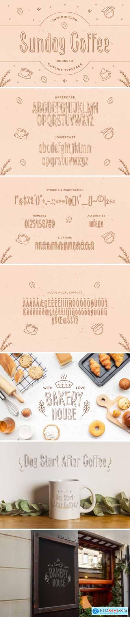 Sunday Coffee Font