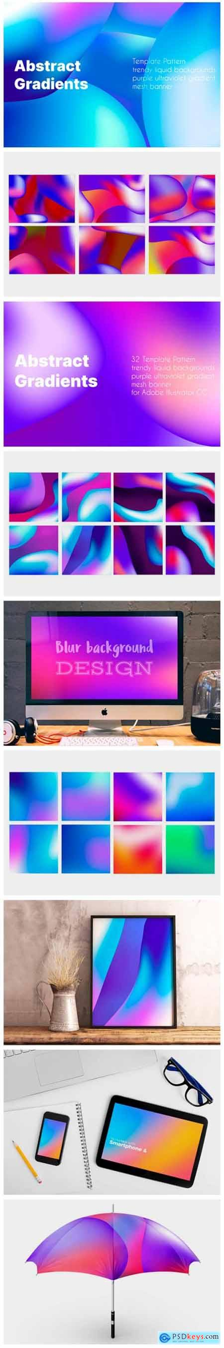 Template Pattern Liquid Backgrounds Set 8541764
