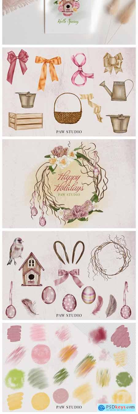 Spring Holiday Womens Day Easter Clipart 8498194