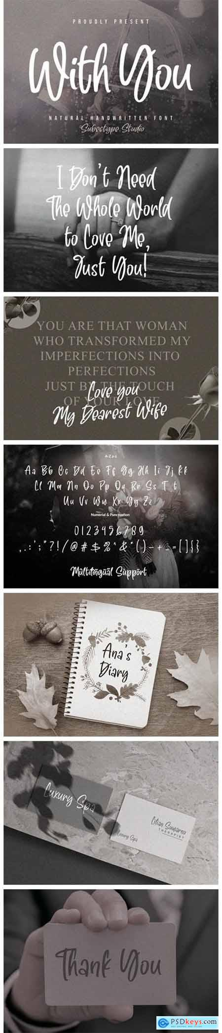 With You Font