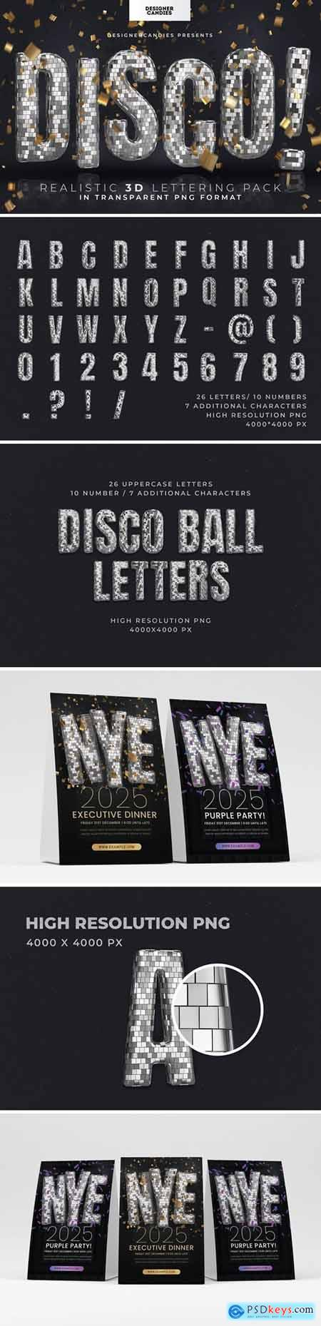 Disco Ball 3D Letting Pack