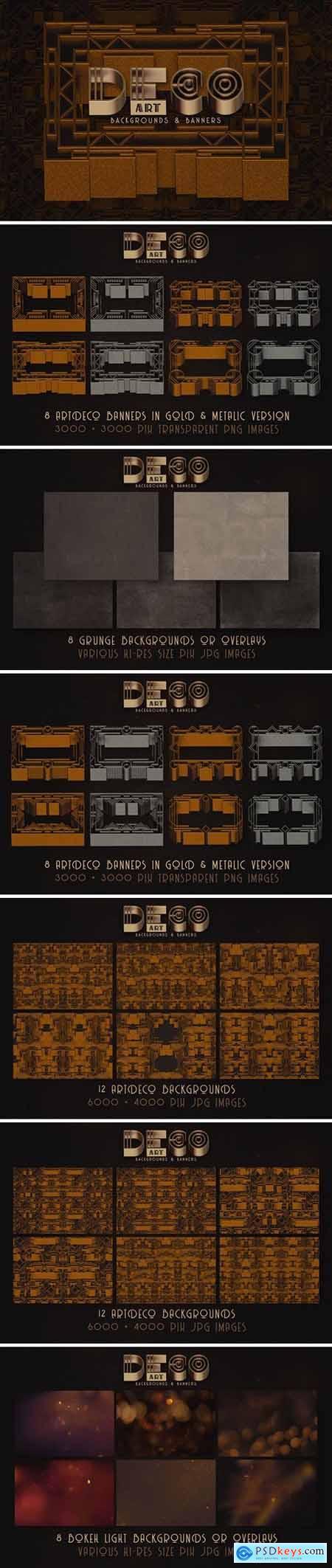 ArtDeco Backgrounds & Banners
