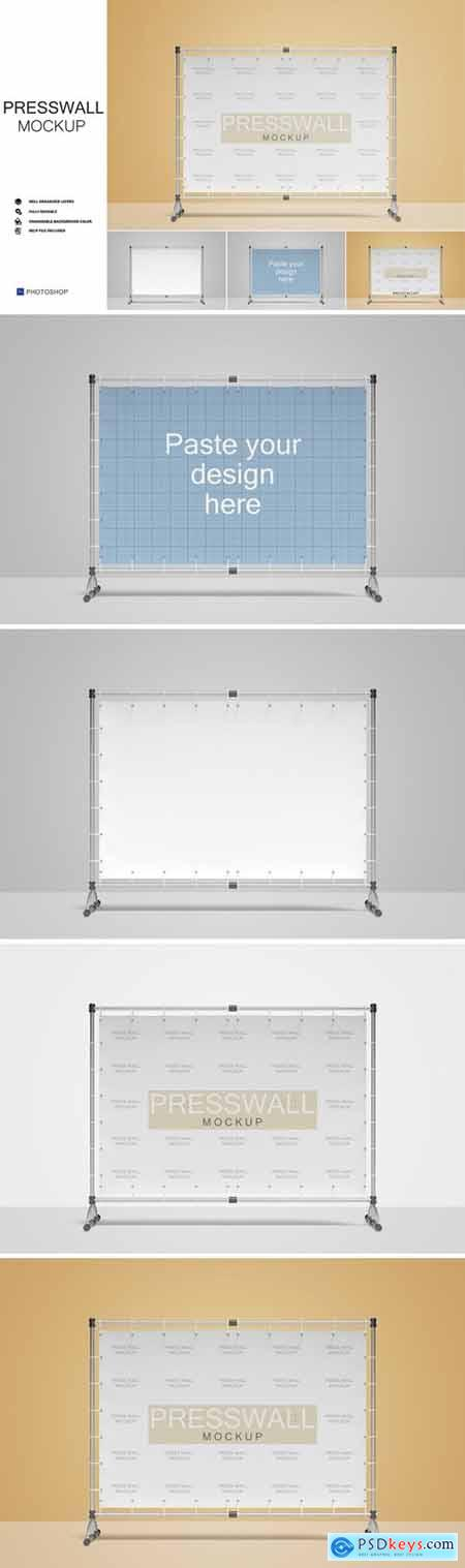 Stand Banner - Press Wall Mockup