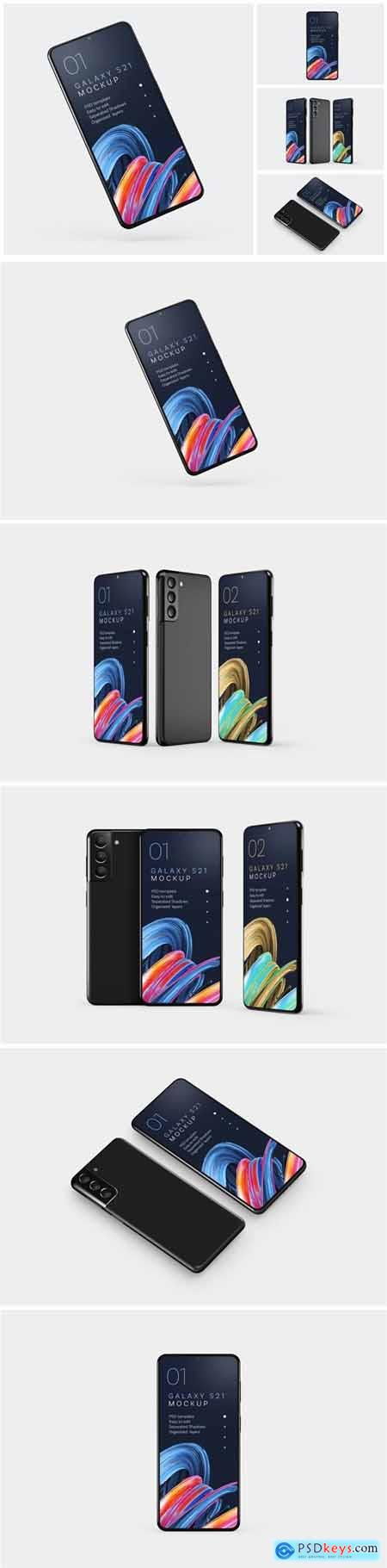 Galaxy S21 Mockup Set