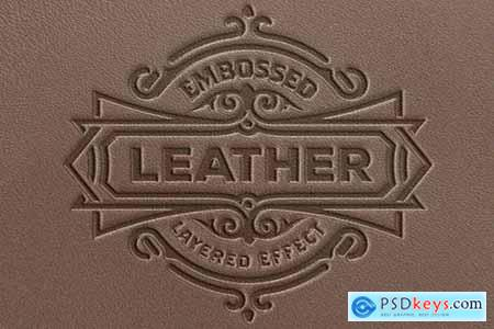 Embossed Leather Effect Mockup