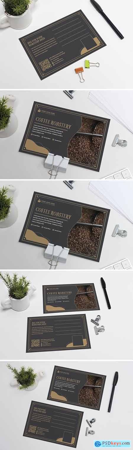 Coffee Roastery Postcard Template