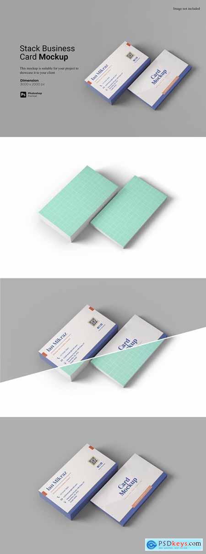 Stack Business Card Mockup