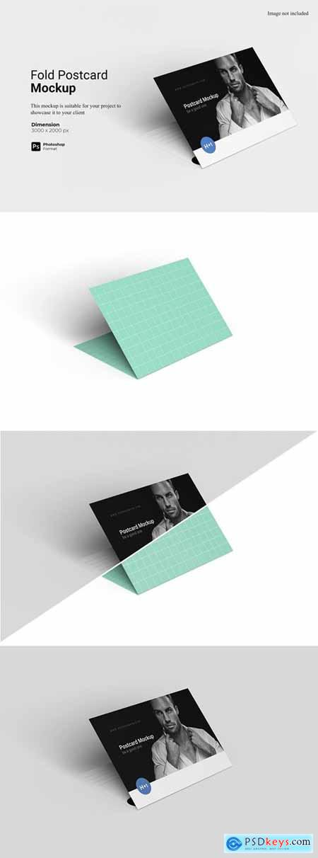 Fold Postcard Mockup
