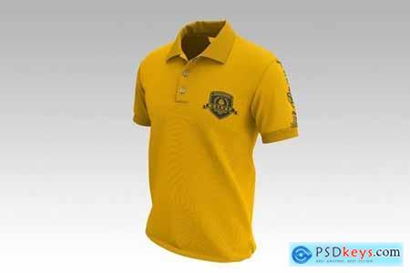 Mens Short Sleeve Polo Shirt Mockup