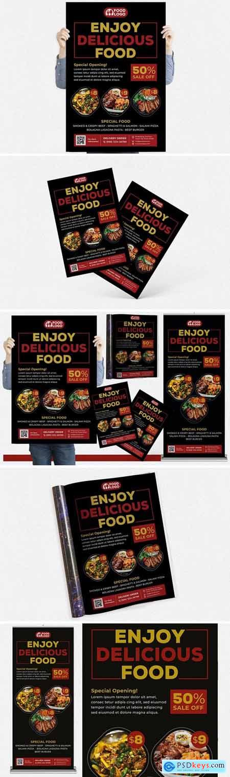 Restaurant #01 Print Templates Pack
