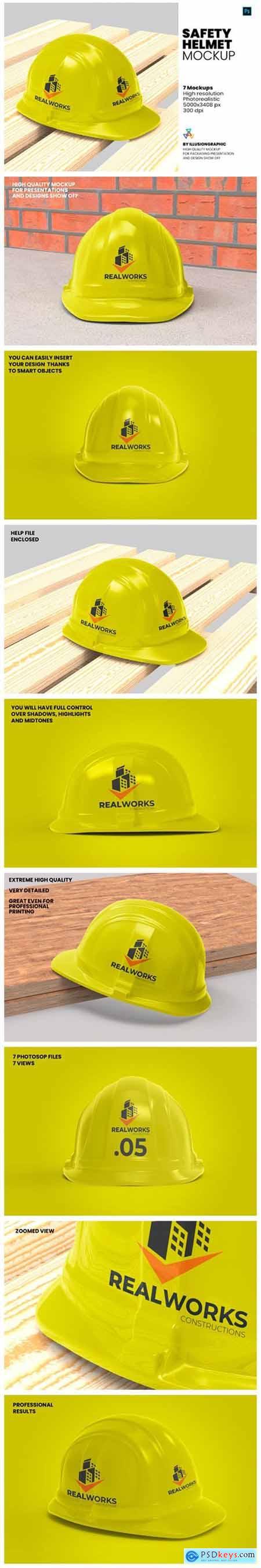 Safety Helmet Mockup - 7 Views 8547248