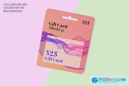Gift Card Mockup - 8 Views 5833562
