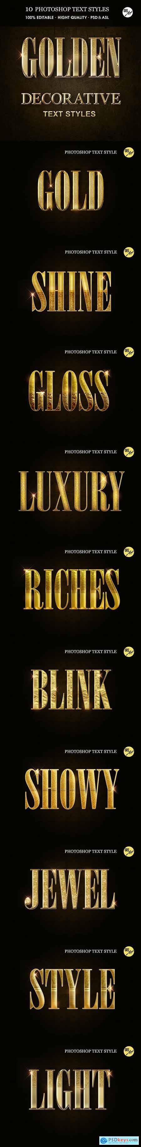 Golden Decorative Text Styles 30375826