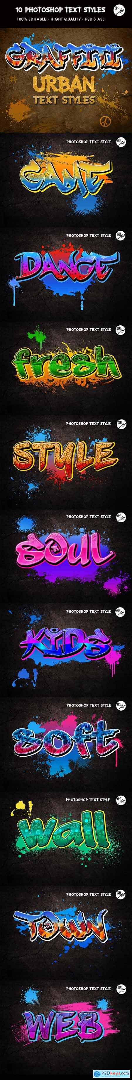 Graffiti Text Styles 30361952