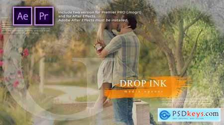 Ink Drop Romantic Media Opener 30586461