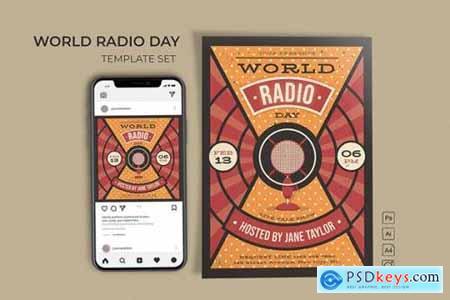 World Radio Day Template Set