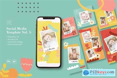 Baby Milestone Social Media Template