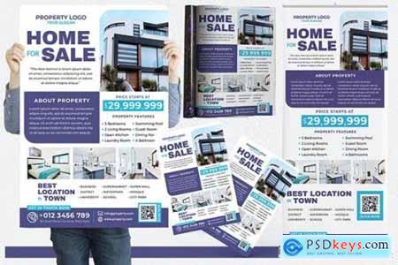 Modern Home For Sale #04 Print Templates Pack