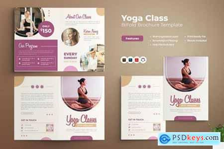 Yoga Class Bifold Brochure