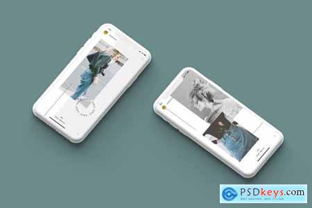 White Iphone Mockup + InstaStory UI 5825026