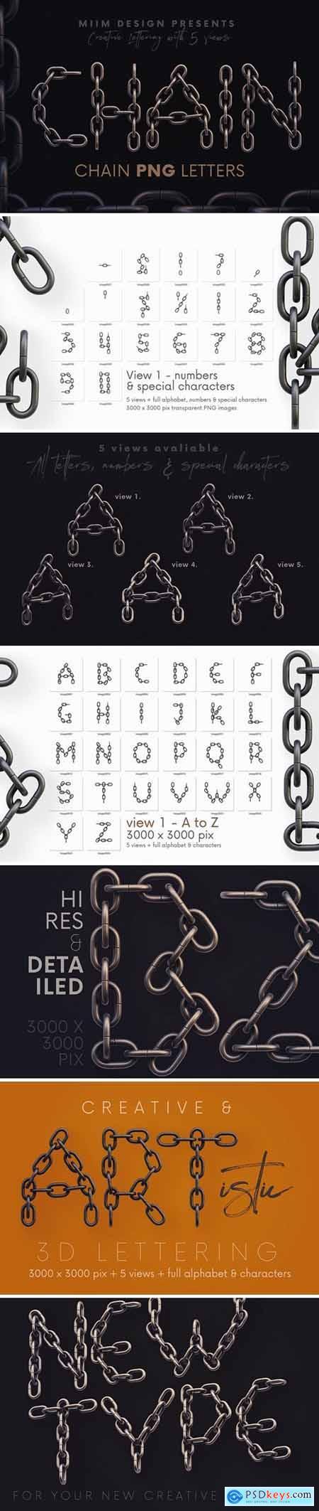 Chain - 3D Lettering