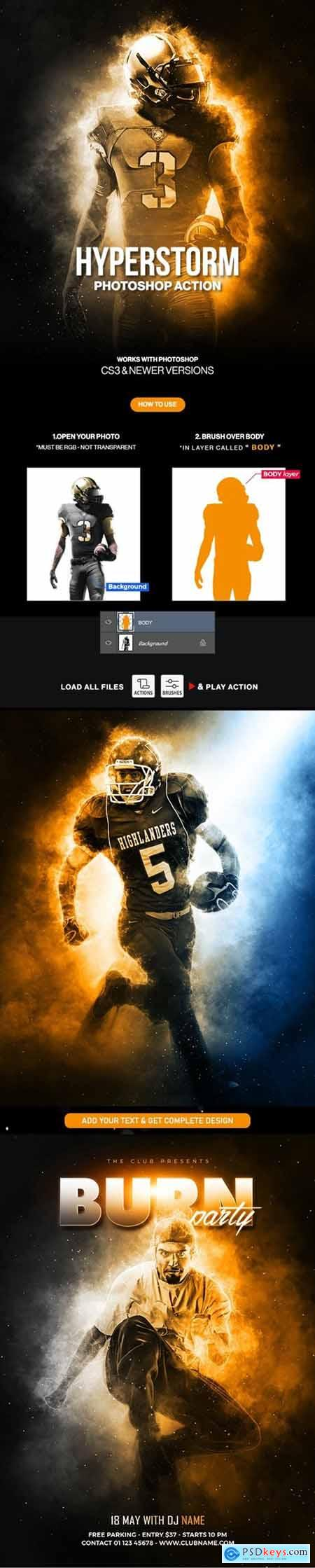 Hyperstorm Photoshop Action 30454156