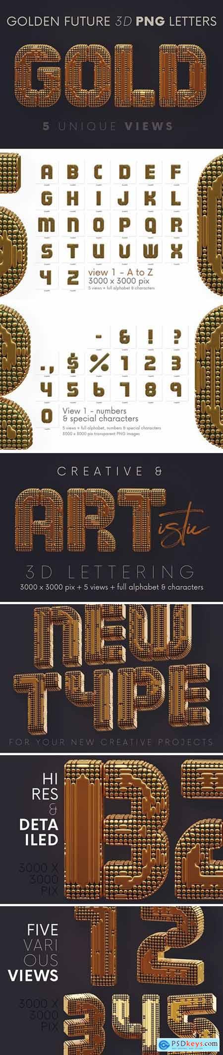 Golden Future - 3D Lettering