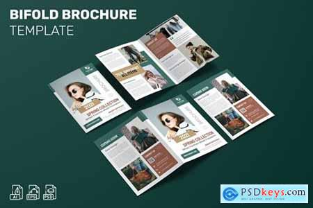 Spring Collection - Bifold Brochure Template