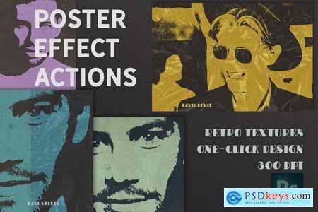 Poster Retro Color Effect Photoshop 4889884