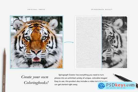 Spirograph Creator for Coloringbooks 5042245
