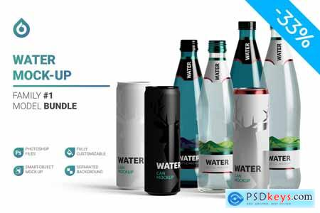 Water Bottles & Can Mockup 5789796