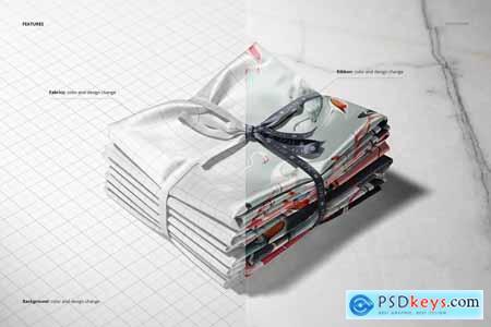 Satin Fabric Stack Mockup (12FFv.12) 5773149