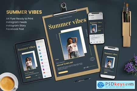 Summer Vibes - Flyer Set
