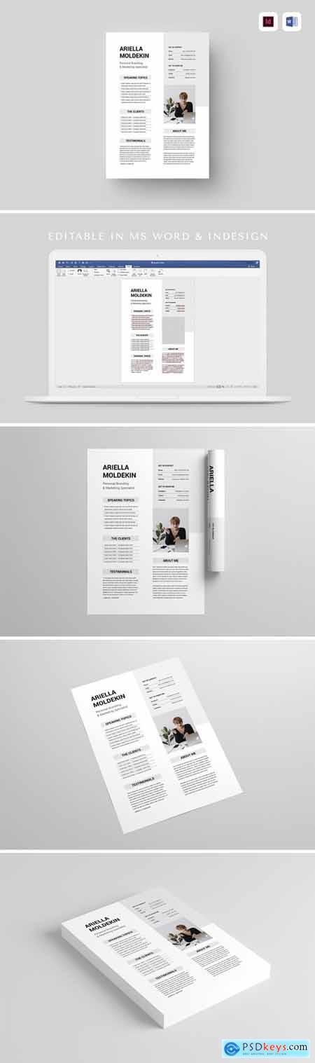 Speaker Sheet - MS Word & Indesign
